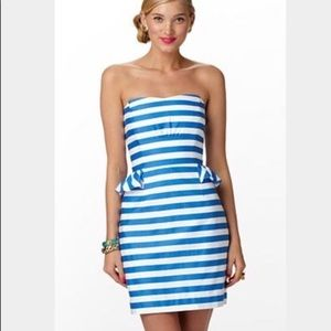 Lilly Pulitzer striped Maybell strapless dress.